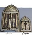 Arabic bone mirror brass - 3 sizes - orange - white