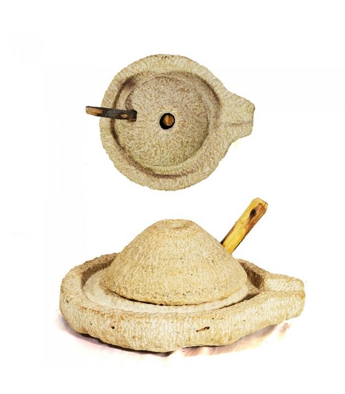 Molino Manual de Piedra - Bereber - Tamaño Grande - Artesano