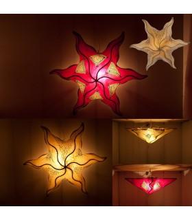 Lampada da soffitto Sol - forgiatura pelle - dipinto in hennè - 45 cm-Colores