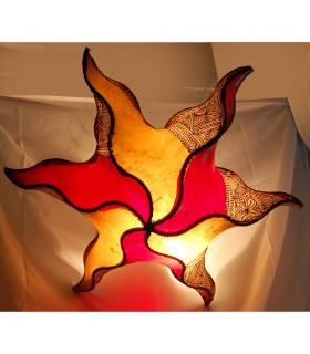 Lámpara Sol Plafón - Piel Forja -Pintada en Henna -45 cm-Colores