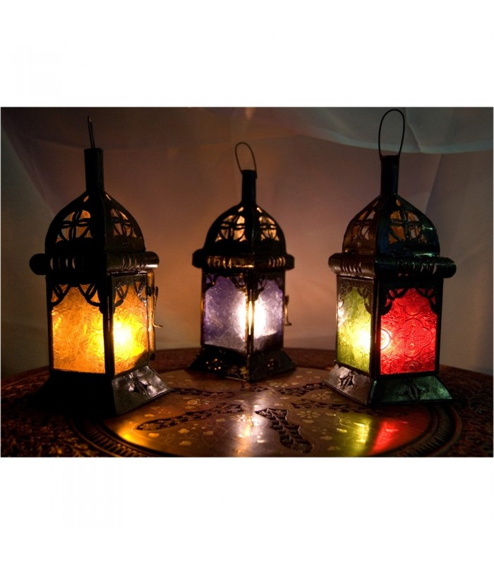 Candle Lantern Square - Crystals - 3 Colors
