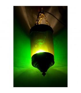 Lámpara Vidrio con Alpaca - Varios Colores - Arabe - 19 cm