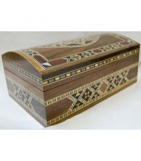 Trunk Rectángular Box  Dark - Sirya Marquetry - Velvet