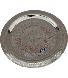 Engraved tea - various diameters - gold or silver tray