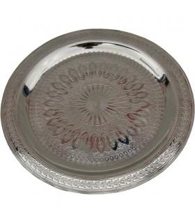 Гравировка чай - разных диаметров - золотой или Серебряный поднос