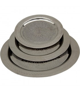 Graviert Tee - verschiedene Durchmesser - Gold oder Silber-Tablett