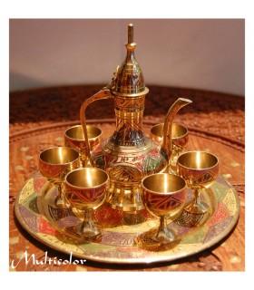 Decorative Porcelain Tea Set - Bronze - Various Colors - NEW