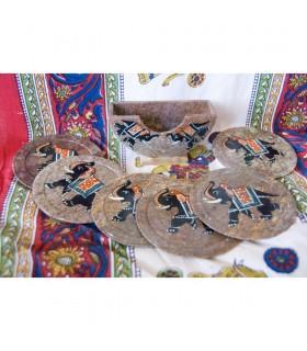 Set 6 Coasters Pintados Onix - Various Models - NEW