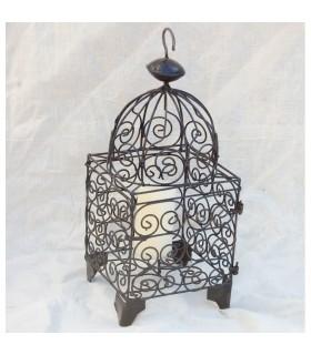 Forgiatura di gabbia candela lanterna - fatto a mano