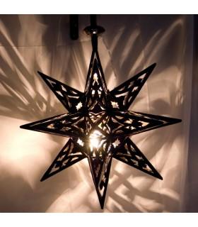 Étoiles ajourés de lampe fer - arabe - andalouse - nouveauté