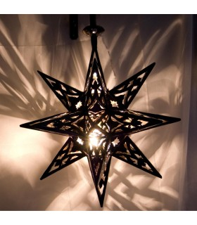 Star lamp iron openwork - Arabic - Andalusian - NOVELTY