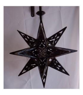 Estrelas openwork de ferro lâmpada - árabe - andaluza - novidade