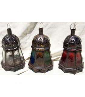 Lanterna de vela farol octogonal - várias cores - novidade