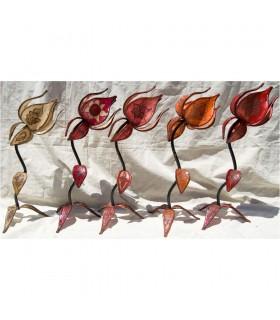 Lampara Piel - Flor Grande - Varios Colores - NOVEDAD