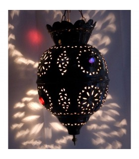 Esfera de lâmpada cobre - resina cores - novidade