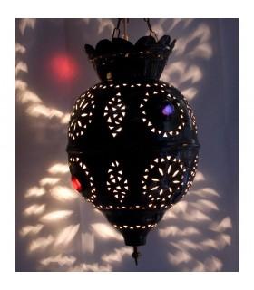 Sphère de lampe en cuivre - résine couleurs - nouveauté