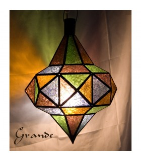 Spin glass lamp - various colors - 2 sizes - NOVELTY