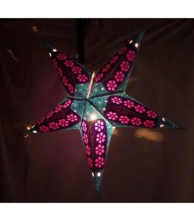 Lámpara Papel Estrella - Plegable - Varios Colores - NOVEDAD