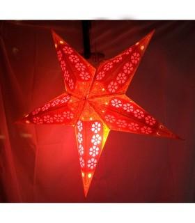 Lampe Papier Stern - Falt - verschiedene Farben - Neuheit