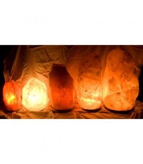 Lámpara de Sal Natural del Himalaya - 11 Tamaños - Recomendado
