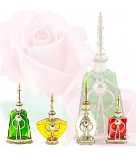 Perfumero Grande Alpaca y Vidrio - Varios Colores - NOVEDAD