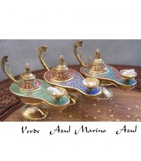 Candíl Genio Aladino - Mecha de Algodón - Bronce - NOVEDAD