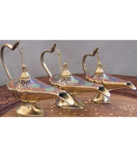Oil lamp Genie Aladdin bronze - 3 sizes - 3 colors - NOVELTY