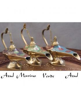 Lâmpada de óleo gênio Aladim bronze - 3 tamanhos - 3 cores - novidade