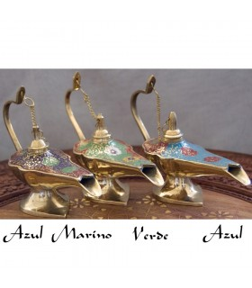 Lampada a petrolio Genie Aladdin bronzo - 3 dimensioni - 3 colori - novità