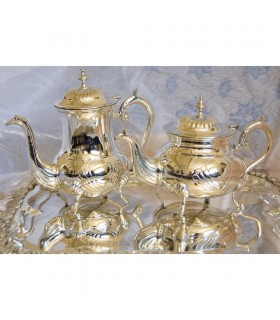 Silver Tea Set - Nickel - High Quality - NEW