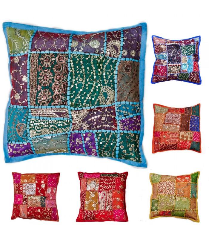 40 cm Patchwork Cushion - Cotton - Various Colors