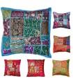 Cushion 40 cm Patchwork - Cotton- Various Colors