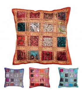 Almofada 40cm caminhos brilhantes - algodão - várias cores - novidade