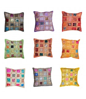 Cushion-40cm Bright Paths Various Colors- Cotton - NEW