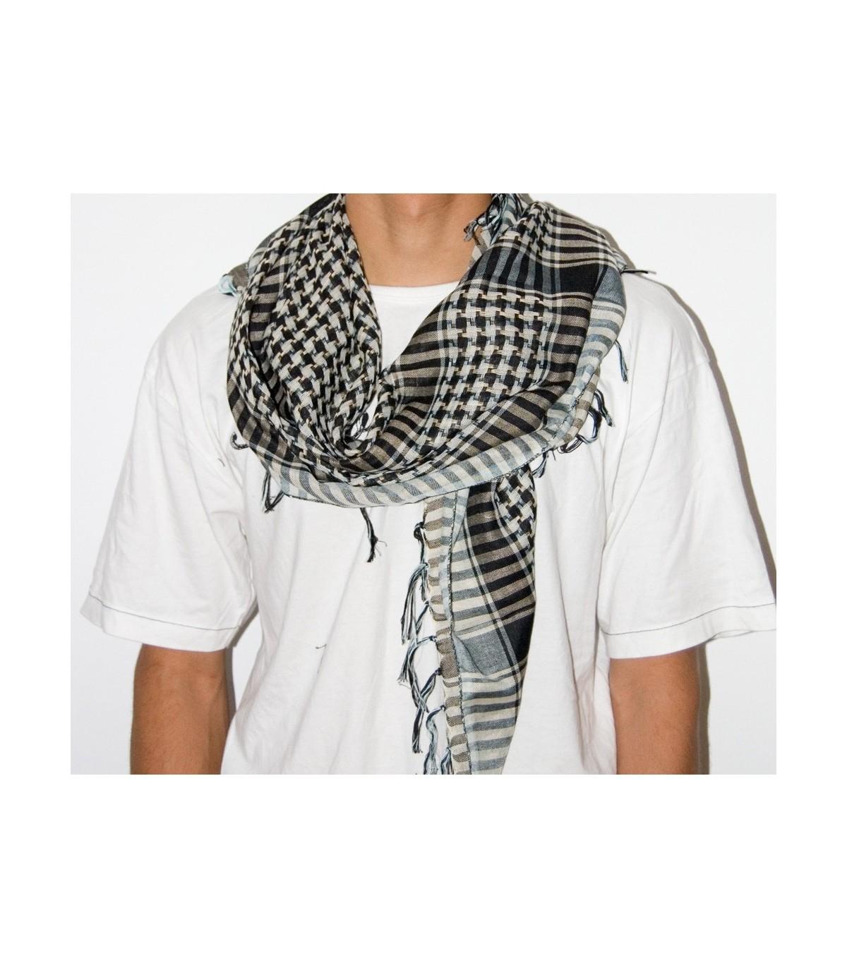 Sciarpa stile Kefiah viola nero Shemagh Sciarpa Arafat