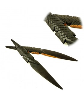 Letter opener crocodile craftsman - wood ebony - NOVELTY