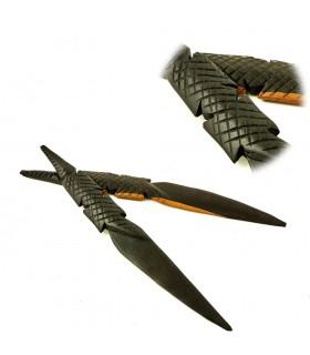 Lettera opener coccodrillo artigiano - legno ebano - novità