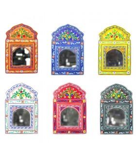 Mini espelho Andalusí pintados à mão - várias cores