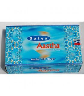 Incenso Aastha (a confiança) - SATYA - inspirar confiança - novidade
