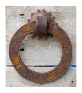Chamador redonda plana 12,5 cm - rusty - guarnição de forjamento
