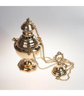 """""""Botafumeiro"""" Räuchergefäß - Bronze oder Nickel - Kette 70 cm"""