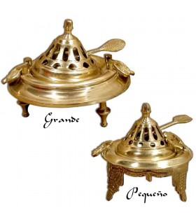 Räuchergefäß Brasero - Bronze oder Nickel - 3 Größen