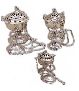 Курильница чаша цепь - бронза или никель - 3 размеров