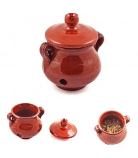 Räuchergefäß Glas Honig - Weihrauch in Getreide - glasierte Keramik