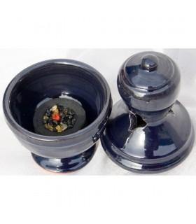 Incensário de cerâmica incenso Botafumeiro - grão - vidrado