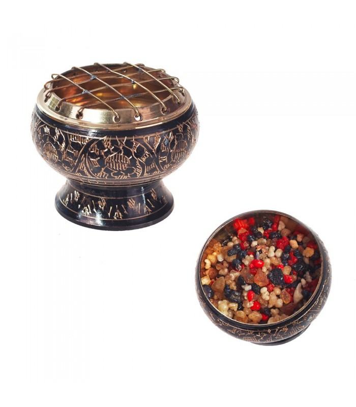 Bronze Censer Engraving Black - Grids - NEW