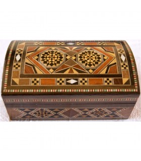 Rectángular Box  Dark - Sirya Marquetry - Velvet