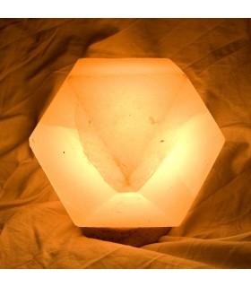 Lámpara Geométrica - Sal Natural del Himalaya - NOVEDAD