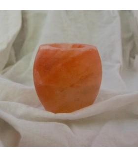 Natural salt candle holder Himalaya - polished - Feng Shui - NOVELTY