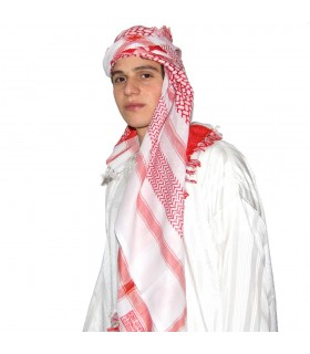 Saudi Arab scarf Red - Bedouin - Cotton - NEW